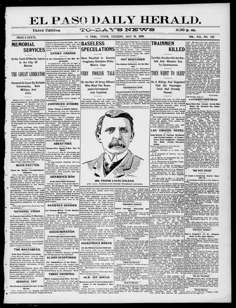 Kazel Piyama 3stel Size Small el paso daily herald el paso tex vol 19 no 168 ed 1 tuesday july 18 1899 page 1