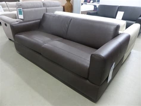 Italian Leather Sofa Bed Rossana Manufactured By Natuzzi Italian Leather Sofa Bed Brown Furnimax Brands Outlet