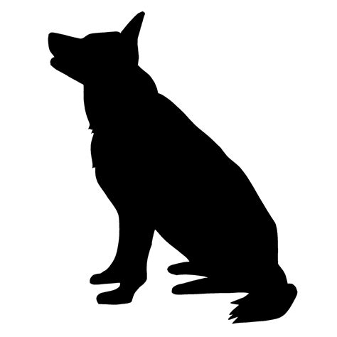 dog silhouette tattoo sitting silhouette clipart collection