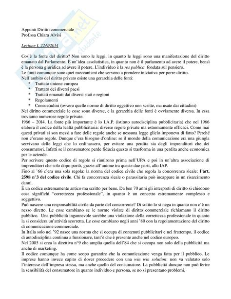 diritto commerciale dispensa lezion appunti di diritto della comunicazione
