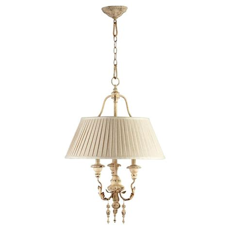 maison country antique white 3 light chandelier