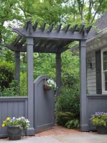 Pergola Over Gate by Beautiful Garden Gate Designs Gardens Backyards And