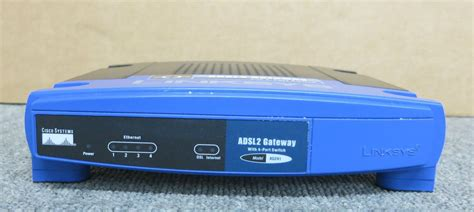 Modem Router Cisco cisco linksys ag241 v2 adsl2 modem router with 4 port switch no ac adapter