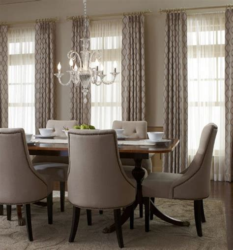 Window Curtains For Dining Room Decor Dining Room Curtain Decor Window Curtains Drapes