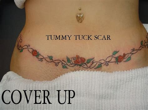 tattoo over body lift scar stomach tattoos to cover scars next tummy tuck scar