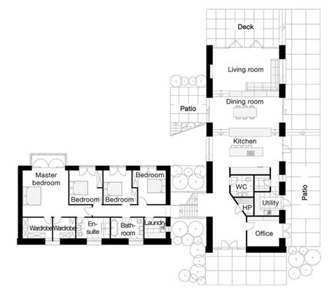 l shaped ranch floor plans l shaped house love the separate wirs for his and hers