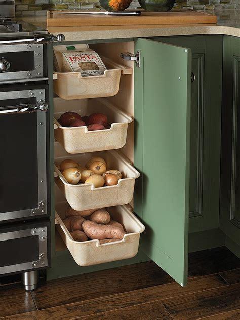 corner drawers  storage solutions   modern kitchen