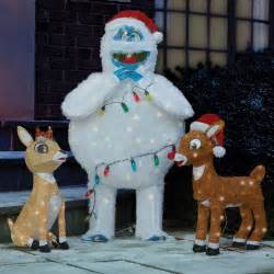 the rudolph clarice and bumble lawn sculptures