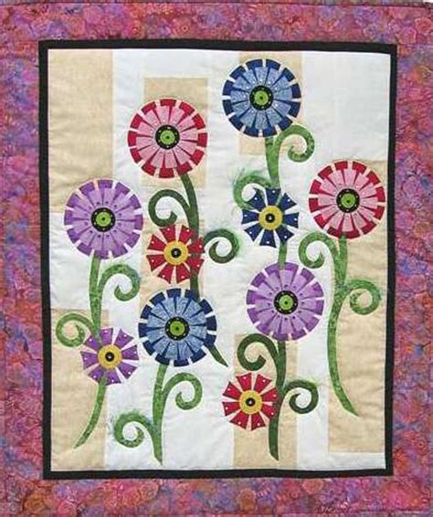 fanciful flowers quilt pattern