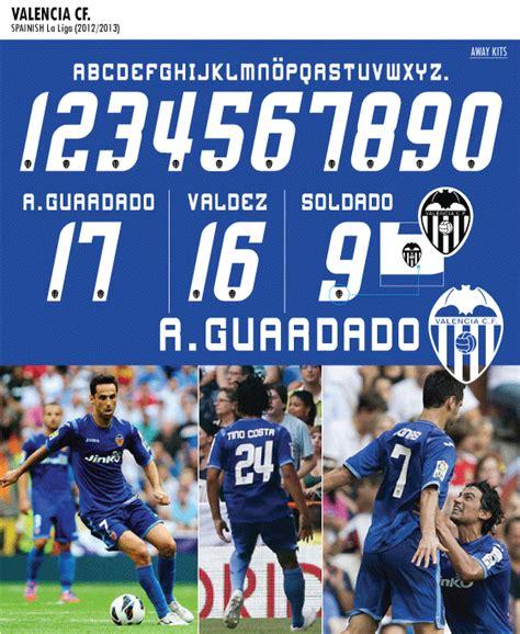 Jersey Valencia Away No Sponsor switch image footy kits font valencia 2012 13 away 3rd