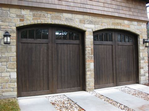 Doors Rounded Metal Brackets On Shed Roof Custom Garage Doors Ideas
