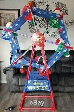 gemmy outdoor ft lighted rotating christmas ferris wheel