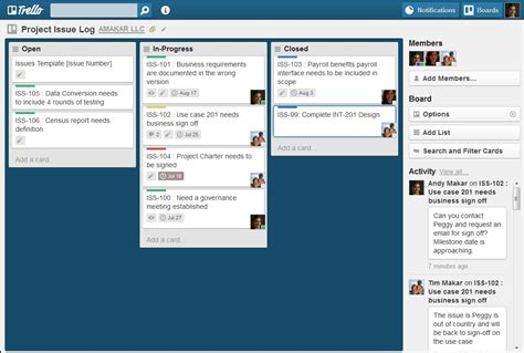 trello card template create a project issue log in trello techrepublic