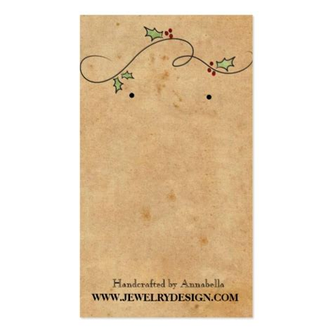 earrings card template earring holder business card template zazzle