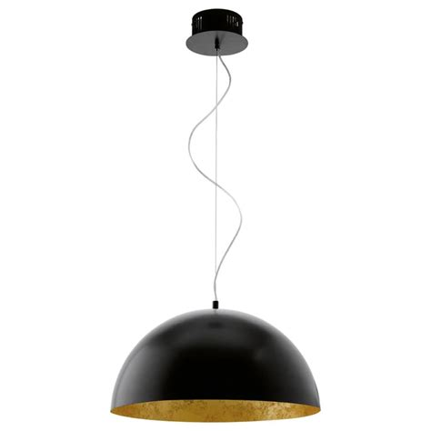 eglo pendant light vidaxl co uk eglo led pendant l gaetano black gold 94228