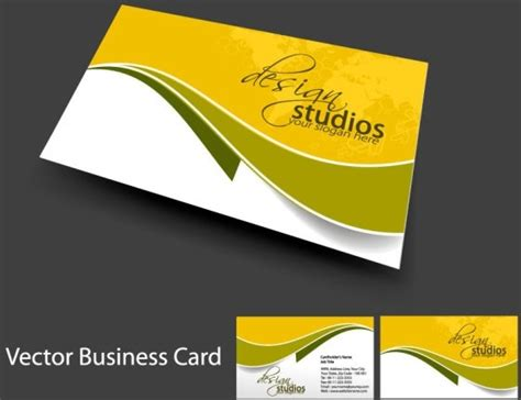 card vector template vector business card template cdr free vector