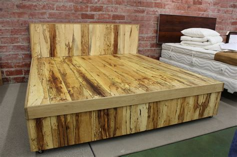 Handmade Wood Beds - pecan wood furniture at the galleria