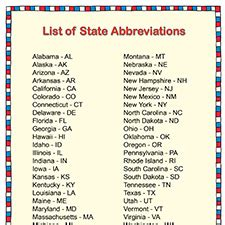 list of us states u s state abbreviation list