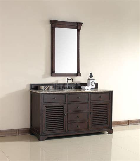 Tropical Bathroom Vanities 60 Inch Brown Single Sink Vanity Tropical Bathroom Vanities And Sink Consoles