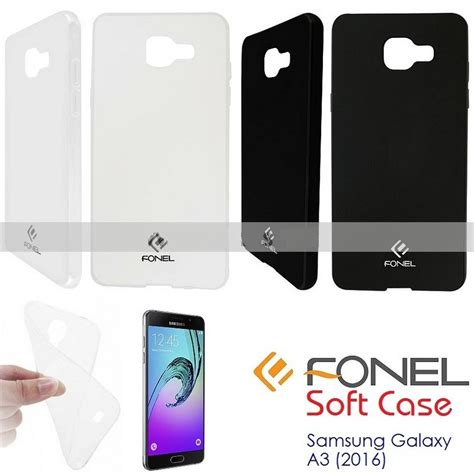 Softcase Blackmatte For Samsung A3 2016 fonel and cover softcase samsung galaxy a3 2016