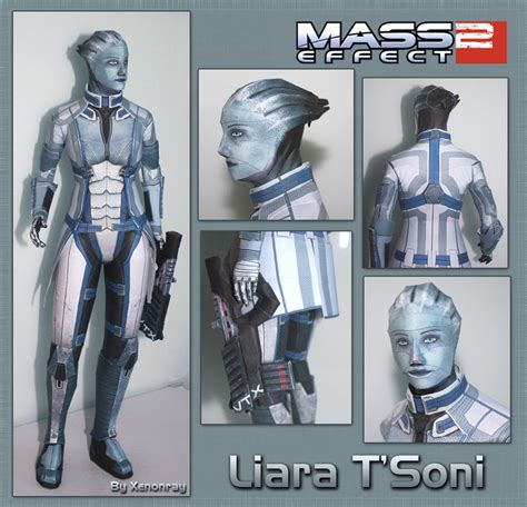 Mass Effect Papercraft - liara papercraft by xenonray on deviantart