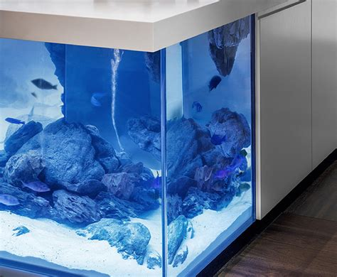 island decor with underwater tints amazing aquarium island turns your kitchen into an