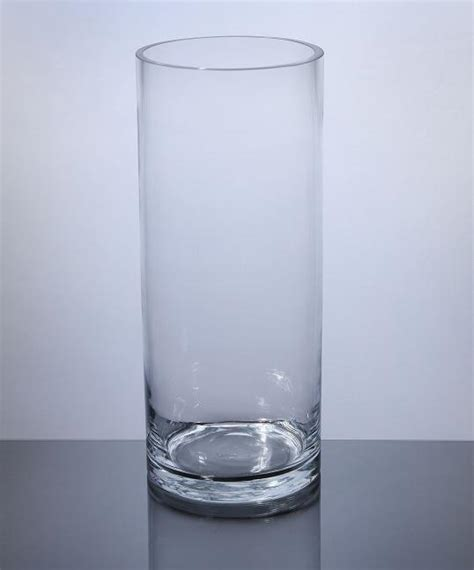 Cylindrical Glass Vases by Pc512 Cylinder Glass Vase 5 Quot X 12 Quot 6 P C Cylinder Glass