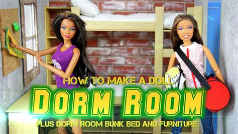 how to make a doll room with bunk bed furniture