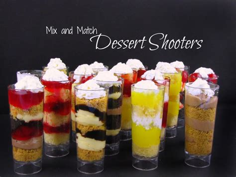 mix and match dessert shooters frugal upstate