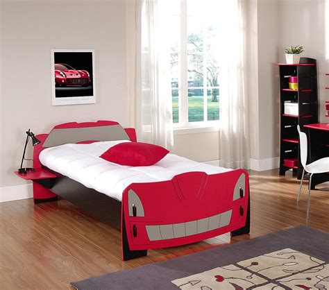 red twin bed dreamfurniture com race car twin bed in red and black finish