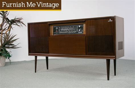 vintage tv stereo cabinet retro 1960s grunding stereo console for the home