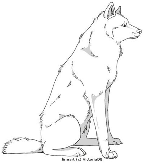 Anime Sitting Outline by Wolf Outline World