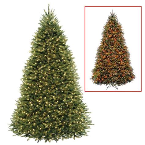 home depot 9 foot douglas fir artificial treee national tree company 9 ft dunhill fir artificial tree with dual color led lights duh