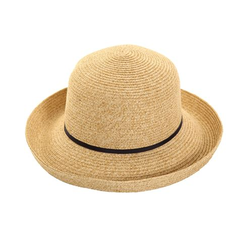 s177 mottled straw hat with slim band ssp hats