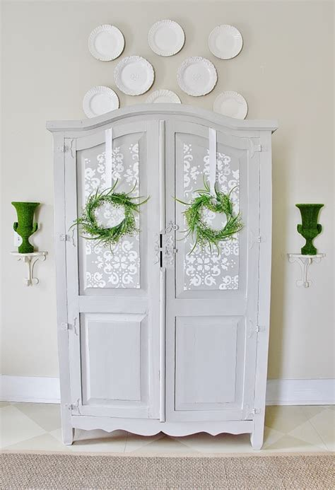 Painted Armoire Images by Painted Gray Armoire Thistlewood Farm