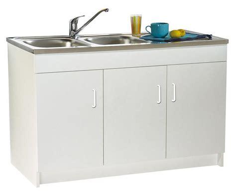 meuble sous evier 3 portes 120 cm meubles bas de cuisine comparez les prix pour