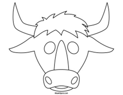 bull mask template printable bull mask