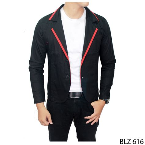 Jas Pria Semi Formal Hitam 2017 semi jas wanita blazer slim new fashion jaket kasual