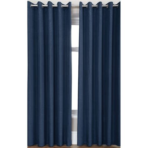 Midnight Blue Curtains Designs Luxury Faux Silk Ring Top Curtains Pair Finished In Midnight Blue