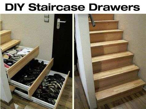 How To Build Stair Drawers by Diy Staircase Drawers For More Storage Diy For