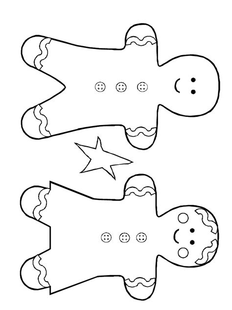 gingerbread man and woman printable color ginger people my style pinterest gingerbread