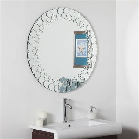 round bathroom wall mirrors shop decor wonderland circles 35 in x 35 in round framed