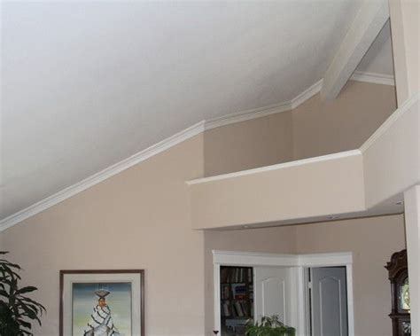 vaulted ceiling trim ideas trim molding in rooms with vaulted ceilings studio