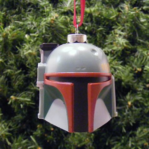 star wars boba fett helmet head christmas ornament