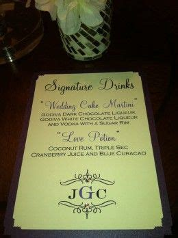 custom signature drink sign for wedding name and