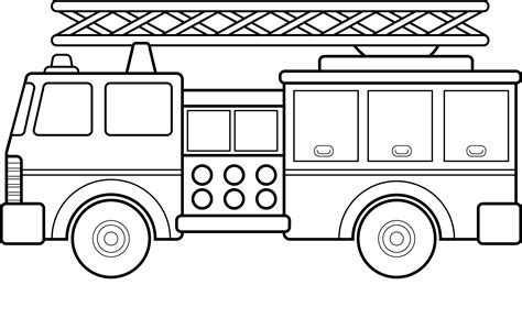 Free Printable Fire Truck Coloring Pages For Kids Coloring Pages Trucks