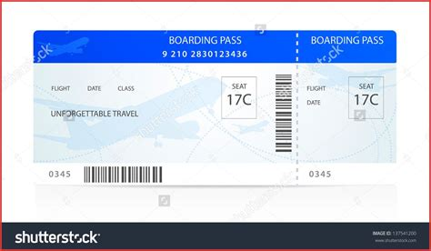 new airline ticket template word resume for a job
