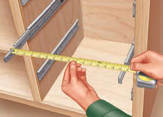 measuring cabinet drawer slides building drawers by installing and measuring the drawer