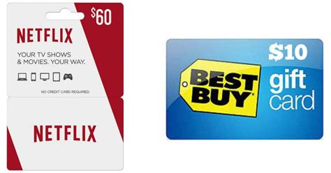 Can You Use Best Buy Gift Cards On Amazon - 60 netflix gift card and 10 best buy gift card only 60 shipped hip2save