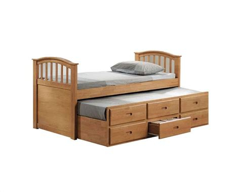twin trundle bed with drawers acme furniture twin bed with trundle and drawers in maple